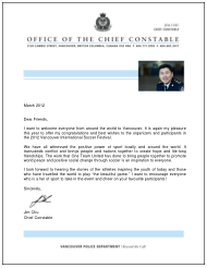 Letter of Support from The VPD Chief Jim Chu